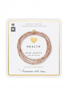Semiprecious collection – three-wrap Rafiki – rose quartz