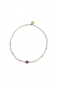 Semiprecious collection – single-strand Rafiki bracelet – amethyst