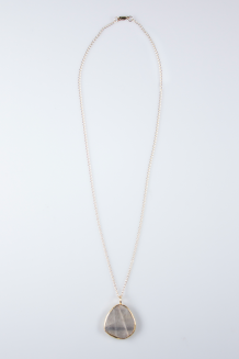 Mara Quartz Necklace - Silver & Gold - Silver & Gold