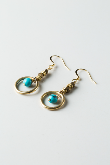 Feruzi Drop Earrings - Turquoise  - Turquoise