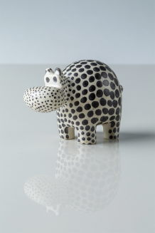 Dotted Soapstone Hippo