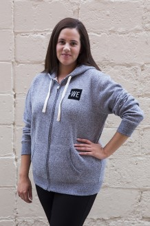 WE Zip Hoodie - Charcoal Gray