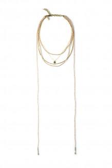 Wraparound Bead & Chain Choker - Iridescent
