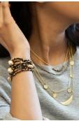 Mama Toti Rafiki Bracelet - Black & Gold Thumbnail View 4