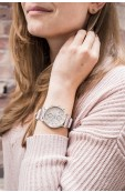 Fossil X ME to WE original boyfriend beaded leather watch Thumbnail View 3
