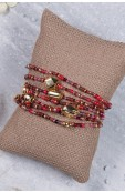 Mama Toti Rafiki Bracelet - Red & Gold  Thumbnail View 3