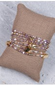 Mama Toti Rafiki Bracelet - Purple & Gold Thumbnail View 3