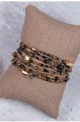 Mama Toti Rafiki Bracelet - Black & Gold Thumbnail View 2