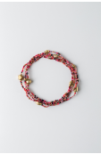 Mama Toti Rafiki Bracelet - Red & Gold  Thumbnail View 2