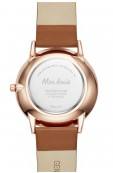 Mon Amie food three-hand tan leather watch Thumbnail View 3