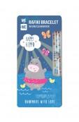 Cute Critters Rafiki Bracelet – Happy Hippo Thumbnail