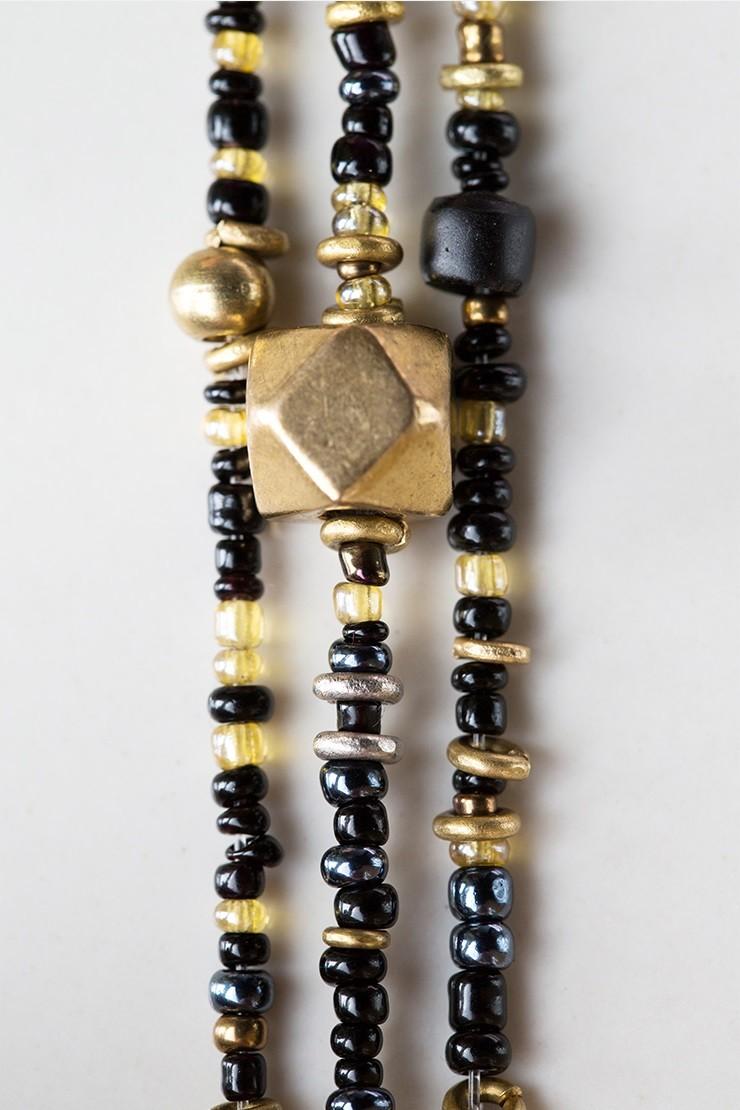 Mama Toti Rafiki Bracelet - Black & GoldView 2