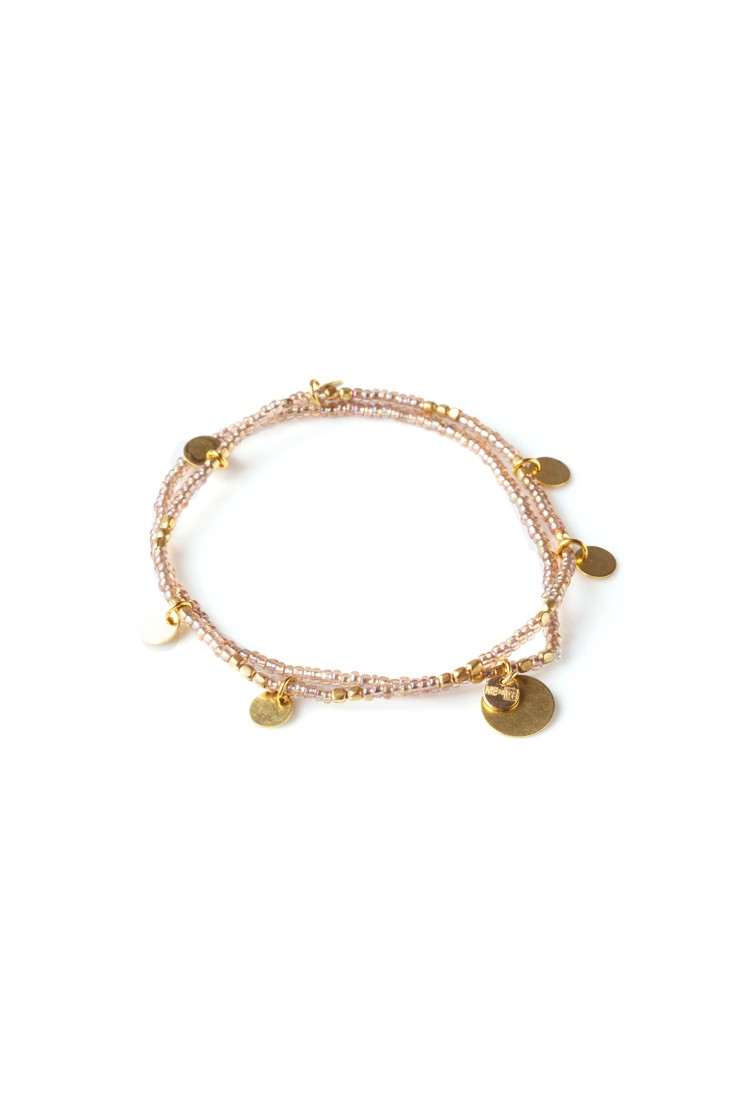 Layered Paillette Bracelet Set - Iridescent