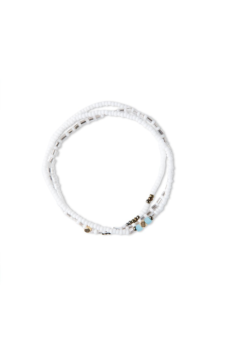 Triple bracelet set – whiteView 1
