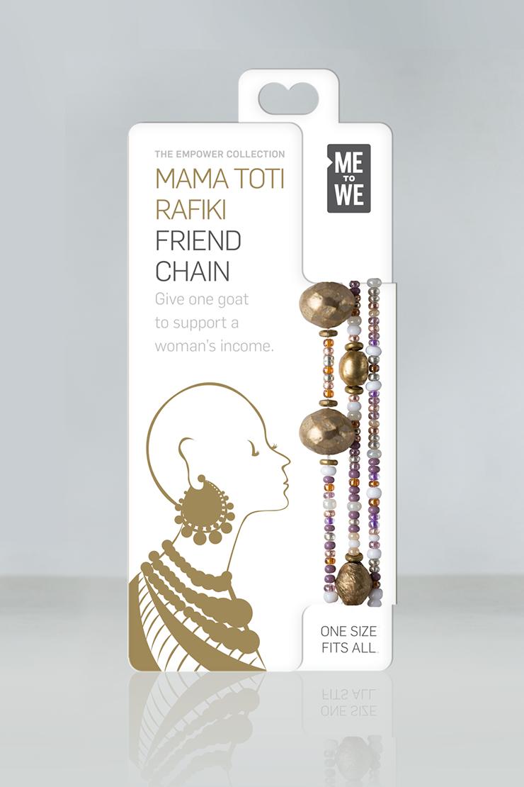 Mama Toti Rafiki Bracelet - Purple & Gold
