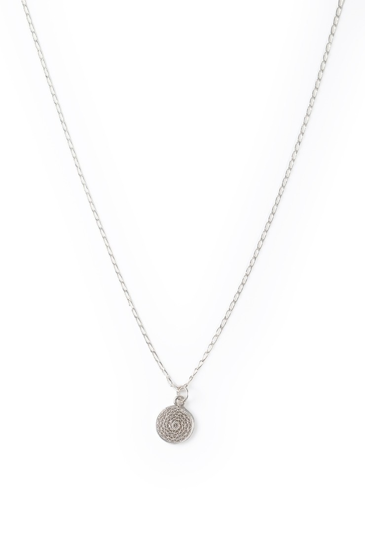 Filigree Charm Necklace - silverView 1