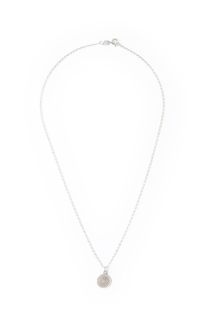 Filigree Charm Necklace - silverView 2