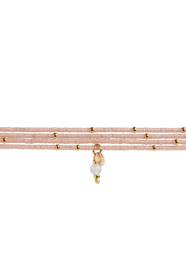Semiprecious collection – Rafiki bracelet – rose quartzView 1