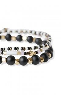 Dot & Stone Bracelet Stack - Blush