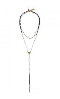 Convertible lariat necklace –  blush