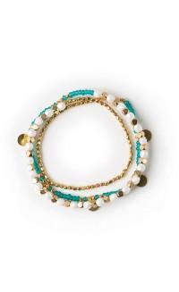Jua faceted Rafiki bracelet - seaglass