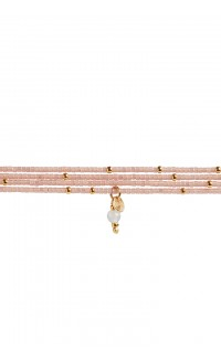 Semiprecious collection – Rafiki bracelet – rose quartz