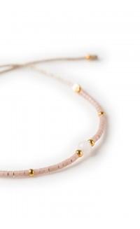 Semiprecious Tamaa bracelet - rose quartz