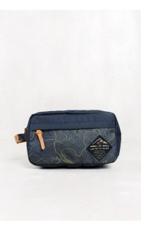 United by Blue – Topography Crest Travel Case - navy/olive