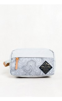 United by Blue – Topography Crest Travel Case - grey/black