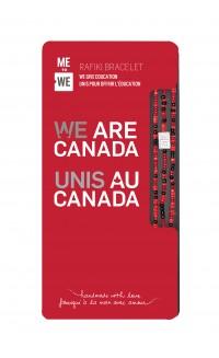 WE are Canada Rafiki Bracelet - Red & Black