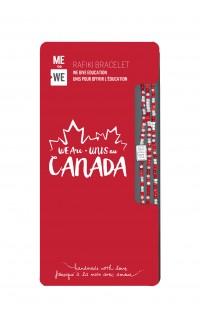 WE are Canada Rafiki Bracelet - Red & White