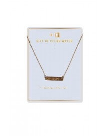 Brass Bar Necklace - Clean Water - Harmony