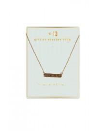 Brass Bar Necklace - Food - Hope