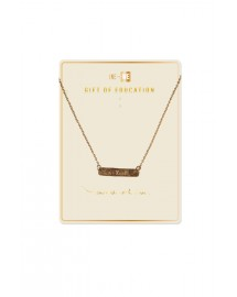 Brass Bar Necklace - Education - Be You