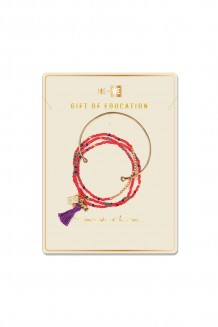 Bangle & Brass Paillette Rafiki Set - Education