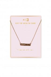 Brass Bar Necklace - Health - Love  - Love