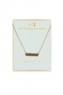 Brass Bar Necklace - Food - Hope