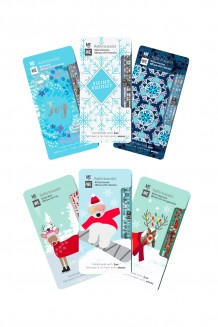 Holiday Rafiki bracelet set of six - winter critters & frozen