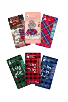 Holiday Rafiki bracelet set of six - plaid & cozy cabin