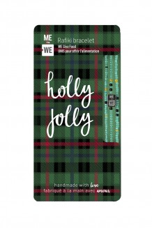 Plaid Rafiki bracelet - holly jolly