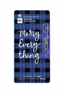 Plaid Rafiki bracelet - merry everything