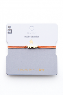 Brass & thread impact bracelet - education