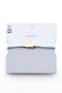 Brass & thread impact bracelet - food