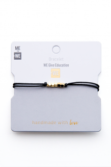 Brass & thread impact bracelet - WE believe