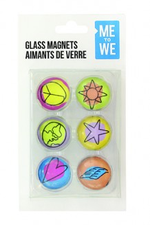 ME to WE Glass Magnets