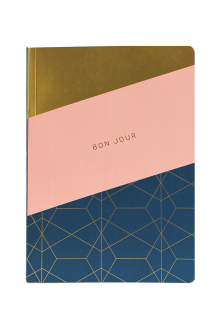 ME to WE Soft-Cover Journal - pink and navy