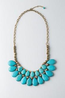 Feruzi Drop Necklace – Turquoise  - Turquoise