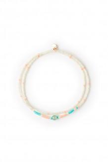 Kanzi double wrap bracelet - seaglass