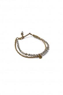 Bahari two-strand bracelet - gray