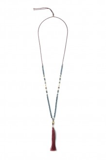 Bahari Tassel Necklace - Blue
